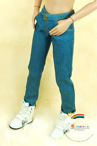"""Releaserain Doll Clothes Skinny Jeans Pants Cadet Blue For 17"""" Fashion Male Tonner Matt"""