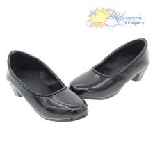 "Doll Shoes Patent Black Pumps For Slim MSD BJD Dollfie Minifee Unoa 14"" Kish Dolls"