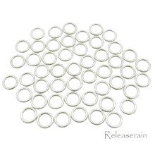 6mm Inner Diameter Silver DIY Doll Clothes Metal Sewing Bra Lingerie O Rings 50 Pieces