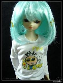 Lake Blue Little Braids 7-8 Wig for MSD BJD Dollfie Ellowyne Wilde Dolls