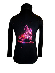 "Black Jacket with ""Pink Skate"" applique"