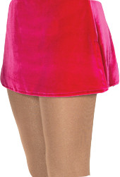 515 Jerry's   Velvet Box Skirts - Fire Pink