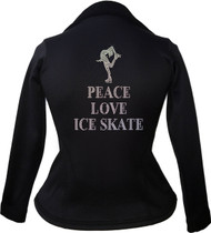 Kami-So Polartec Ice Skating Peplum Design Jacket - Peace Love Ice Skate
