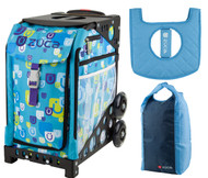 Zuca Sport Bag - Be Zappy with Gift Stuff Sack and Seat Cover (Black Non-Flashing Wheels  Frame)