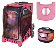 Zuca Sport Bag - Galaxy  with Gift Lunchbox and Seat Cover (Pink Frame)