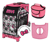 Zuca Sport Bag - Hello Kitty Masterpiece  with Gift Lunchbox and Seat Cover  (Pink Frame)