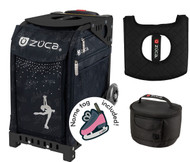 Zuca Sport Bag - Ice Queen with Gift Lunchbox and Seat Cover (Black Frame)