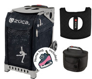 Zuca Sport Bag - Ice Queen with Gift Lunchbox and Seat Cover (Gray Frame, Black Lunchbox)