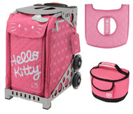 Zuca Sport Bag - Hello Kitty, Pink Luxe with Gift Lunchbox and Seat Cover (Gray Frame)