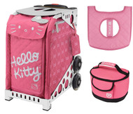 Zuca Sport Bag - Hello Kitty, Pink Luxe with Gift Lunchbox and Seat Cover (White Frame)