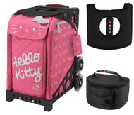 Zuca Sport Bag - Hello Kitty, Pink Luxe with Gift Lunchbox and Seat Cover (Black Frame)