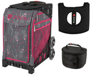 Zuca Sport Bag - Peace Now (Limited Edition) with Gift Lunchbox and Seat Cover (Black Frame)