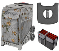 Zuca Sport Bag - Realtree Xtra Colors - Frost Gray with Gift Seat Cover  and Document Organizer (Gray Frame)