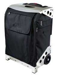 ZUCA ARTIST FLYER BAG- BLACK INSERT  AND SILVER FRAME