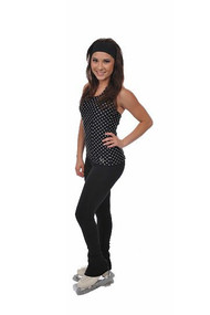 Savvy Skater Polka Dot Halter Figure Skating Top