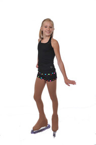 Savvy Skater Polka Dot Figure Skating Shorts Adult X-LARGE