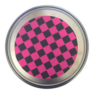 "The Mad Spinner for Ice Skating 12"" diameter - Pink & Black Checker"