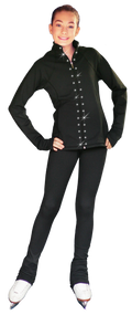 ChloeNoel JS792 Color Contrast Elite Jacket w/ Pockets & Thumb Holes & Swarovski Crystal Design