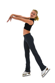 ChloeNoel P49 All Black 3Inch Waist Band Straight Cut Skate / Yoga / Dance Pants