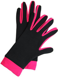 Icedress- Thermal Figure Skating Gloves (Black & Raspberry)