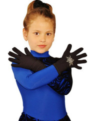 Icedress- Thermal Figure Skating Gloves with Rhinestones
