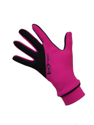 "Icedress - Two Color Thermal Figure Skating Gloves ""IceDress-Sport"" (Fuchsia and Black)"