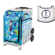 Zuca Sport Bag - Be Zappy with Gift  Seat Cover (White Frame)