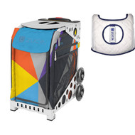 Zuca Sport Bag - Colorblock Party with Gift  Seat Cover (White Frame)