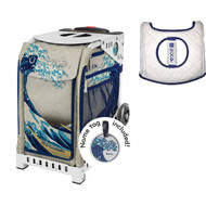 Zuca Sport Bag - Great Wave  with Gift  Seat Cover (White Frame)
