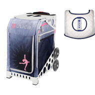 Zuca Sport Bag - Ice Dreamz Lux with Gift  Seat Cover (White Frame)