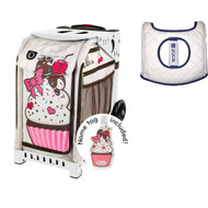 Zuca Sport Bag - Sprinklez with Gift  Seat Cover (White Frame)