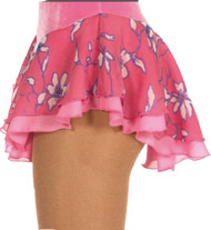 Jerry's 305 Double Georgette Print Skirts Rose - Floral/Clear Pink