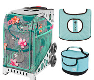 Zuca Sport Bag -  Peek-a-Boo Friends with Gift Lunchbox and Seat Cover (White Frames)