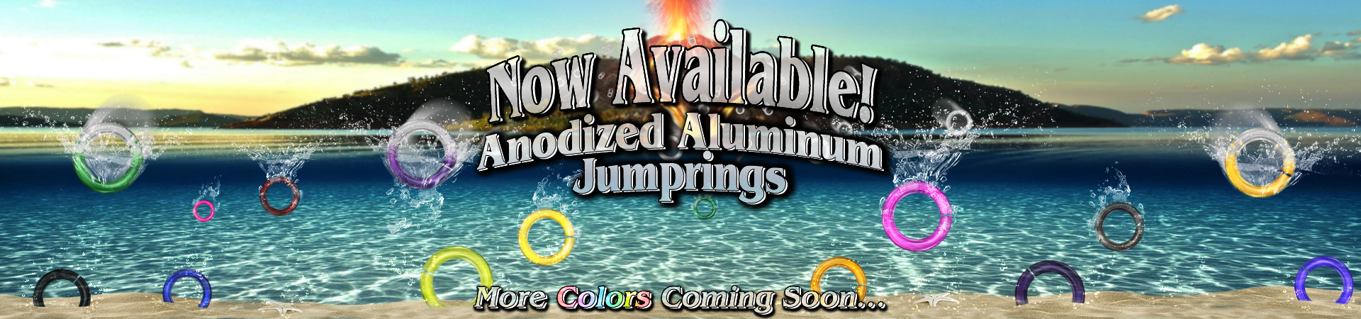 Anodized Aluminum Jumprings Now Availible