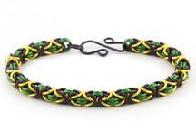 3-Color Byzantine Bracelet Kit - Mardi Gras