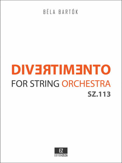 Bartók Divertimento for String Orchestra Score & Parts