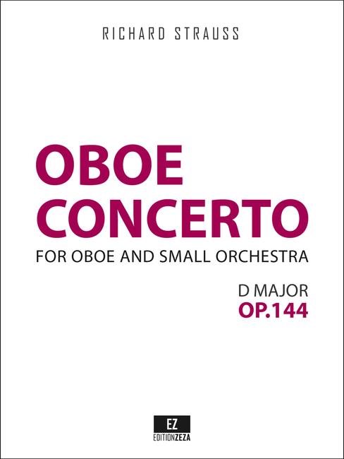 Strauss Concerto in D major for Oboe and Small Orchestra, AV 144, TrV 292 sheet music.