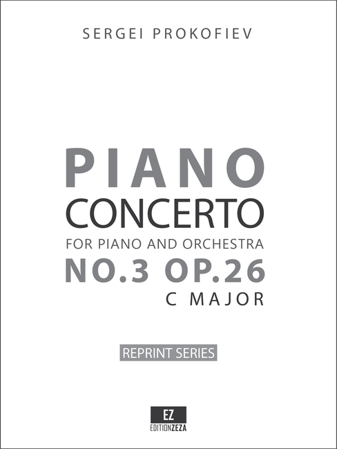 Prokofiev Piano Concerto No.3 Op.26 Full Score and Set of Orchestral Parts
