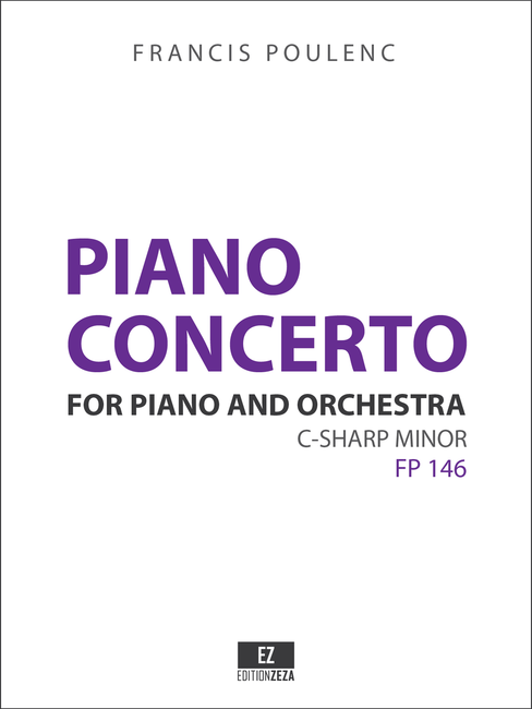 Poulenc - Concerto for Piano and Orchestra in C-sharp minor - Score and Set of Parts