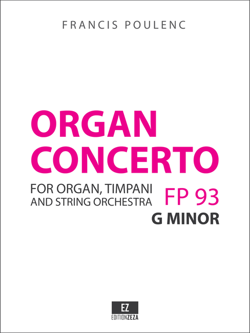Poulenc: Organ Concerto, Score and Parts