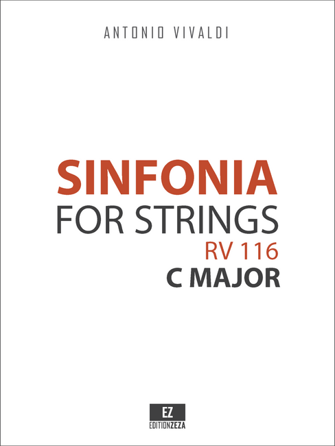 Vivaldi, A. - Sinfonia in C Major RV 116 for Strings, Score and Parts