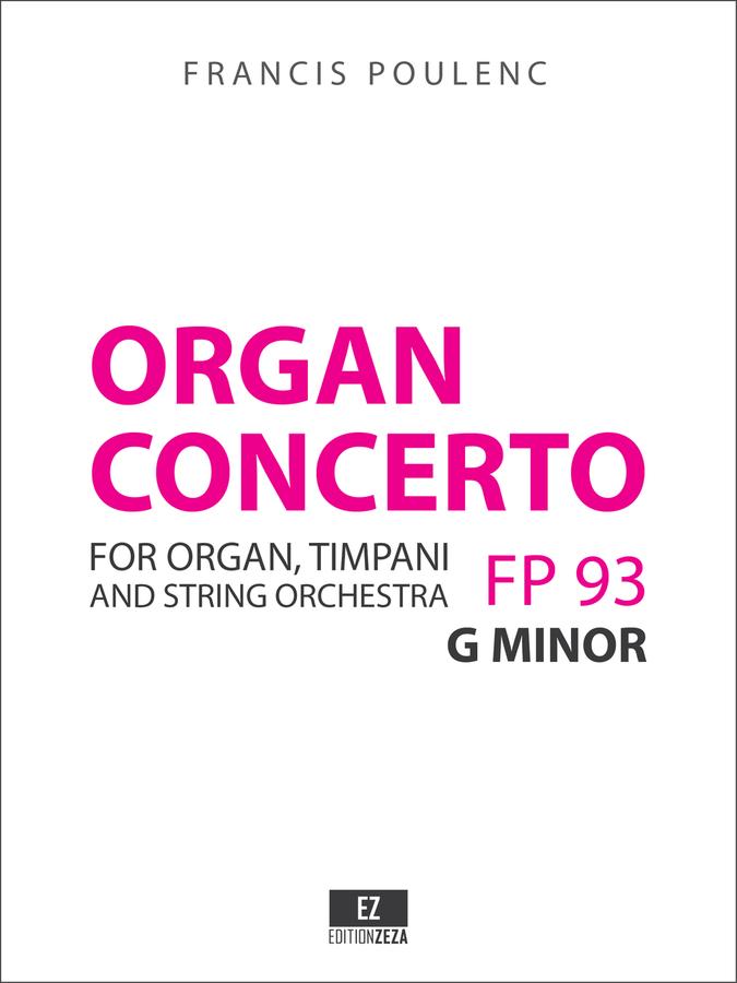 Poulenc: Organ Concerto, Score and Parts