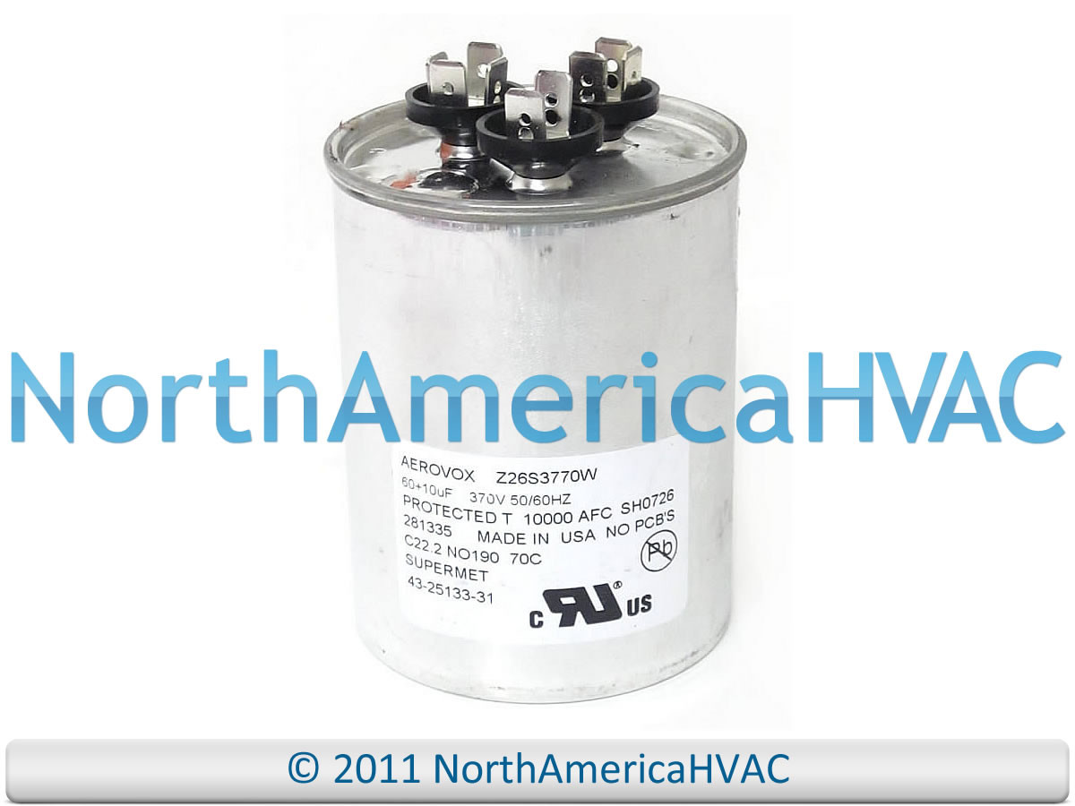 rheem ruud protech capacitor 10 60 uf 370 43 25133 31 america distribution sellersburg