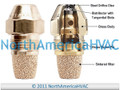 Oil Burner Nozzle Delavan .70 GPH 90 Degrees Hollow Cone A H AH NS PL USA