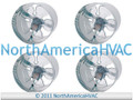 "4x 10"" Round In-Line Air Duct Booster Fan 115 Volt T9-MCM10 T9-DB10 DB10 650 CFM"