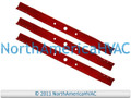 3x Aladdin Arnold Lesco 33 x 2¾ High Lift Lawn Mower Deck Blade | UMC8 UGAT28 SN-33 550214