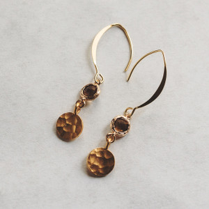 Topaz and Gold Earrings