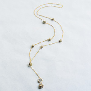Pyrite and Coin Necklace