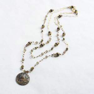 Smokey Quartz and Bronze Necklace