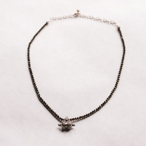Pyrite and Vintage Necklace